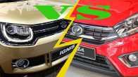 Foto  Versus : Suzuki Ignis Vs Toyota Agya 1.200 cc , Perbandingan Mesin, Dimensi Dan Bobot Kendaraan.