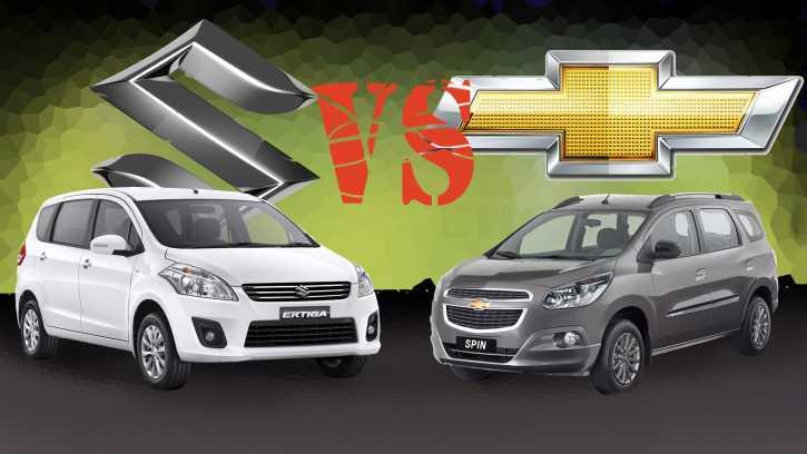 Komparasi Lmpv Diesel Suzuki Ertiga Shvs Vs Chevrolet Spin Tcdi
